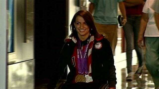 Paralympics gold medalist returns home to Exeter