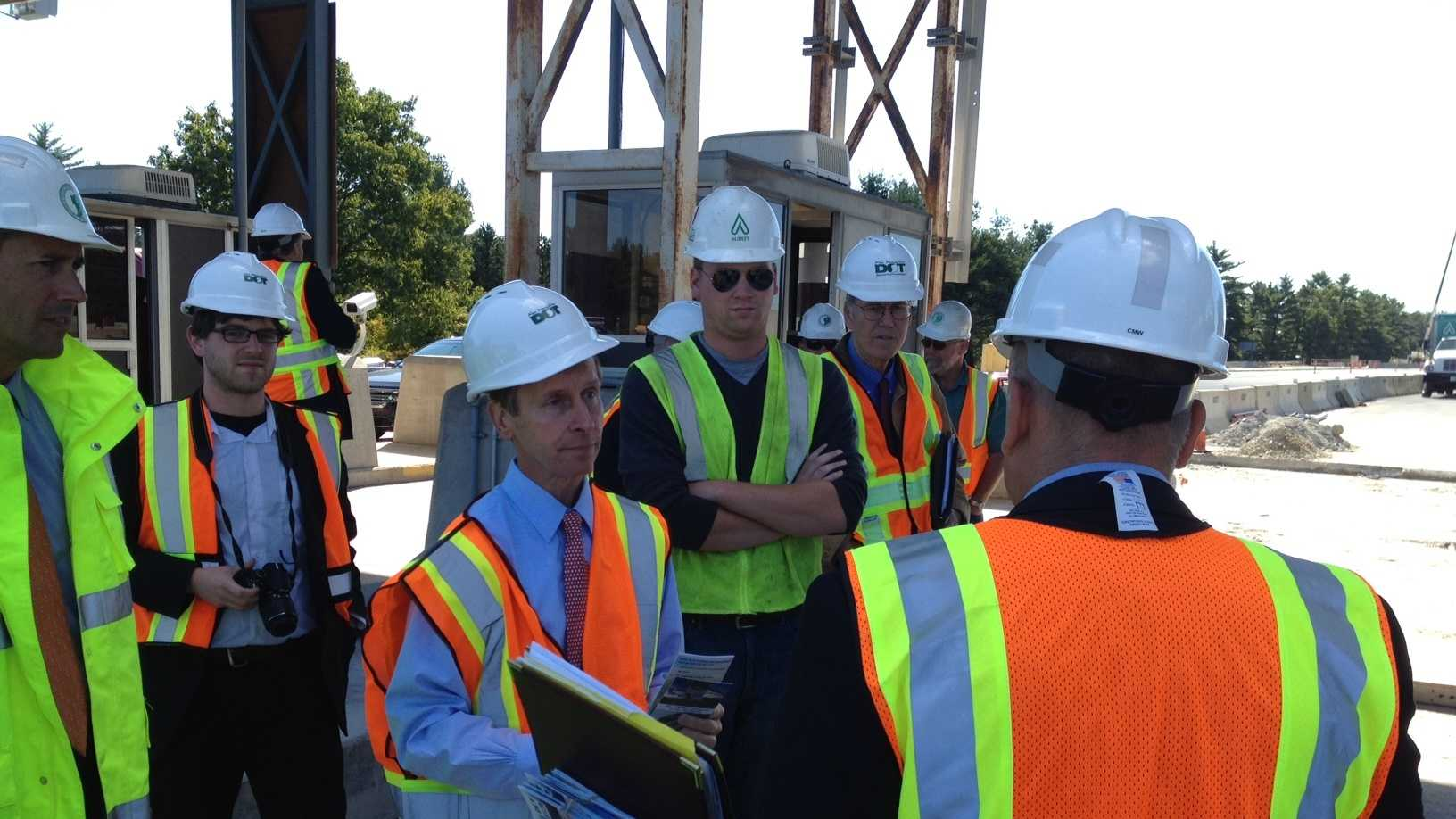 Governor tours toll project