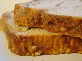 Apple-cinnamon bread.