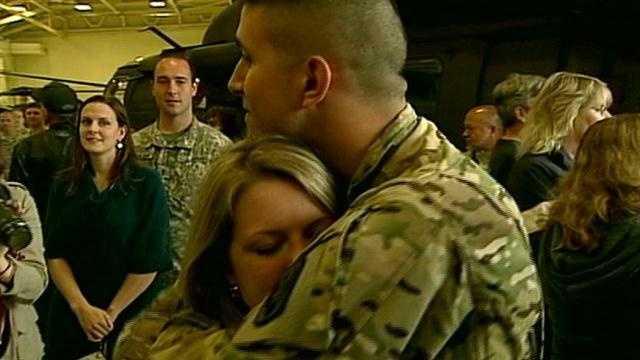 Soldier deployment ceremony