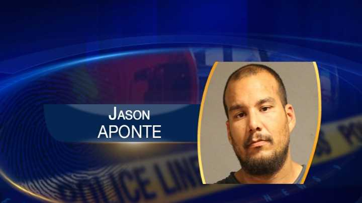 A Nashua man is accused of strangling a woman and throwing her dog through a glass door. Police arrested 29-year-old Jason Aponte after responding to what they describe as a domestic dispute.