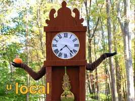 A grandfather clock.