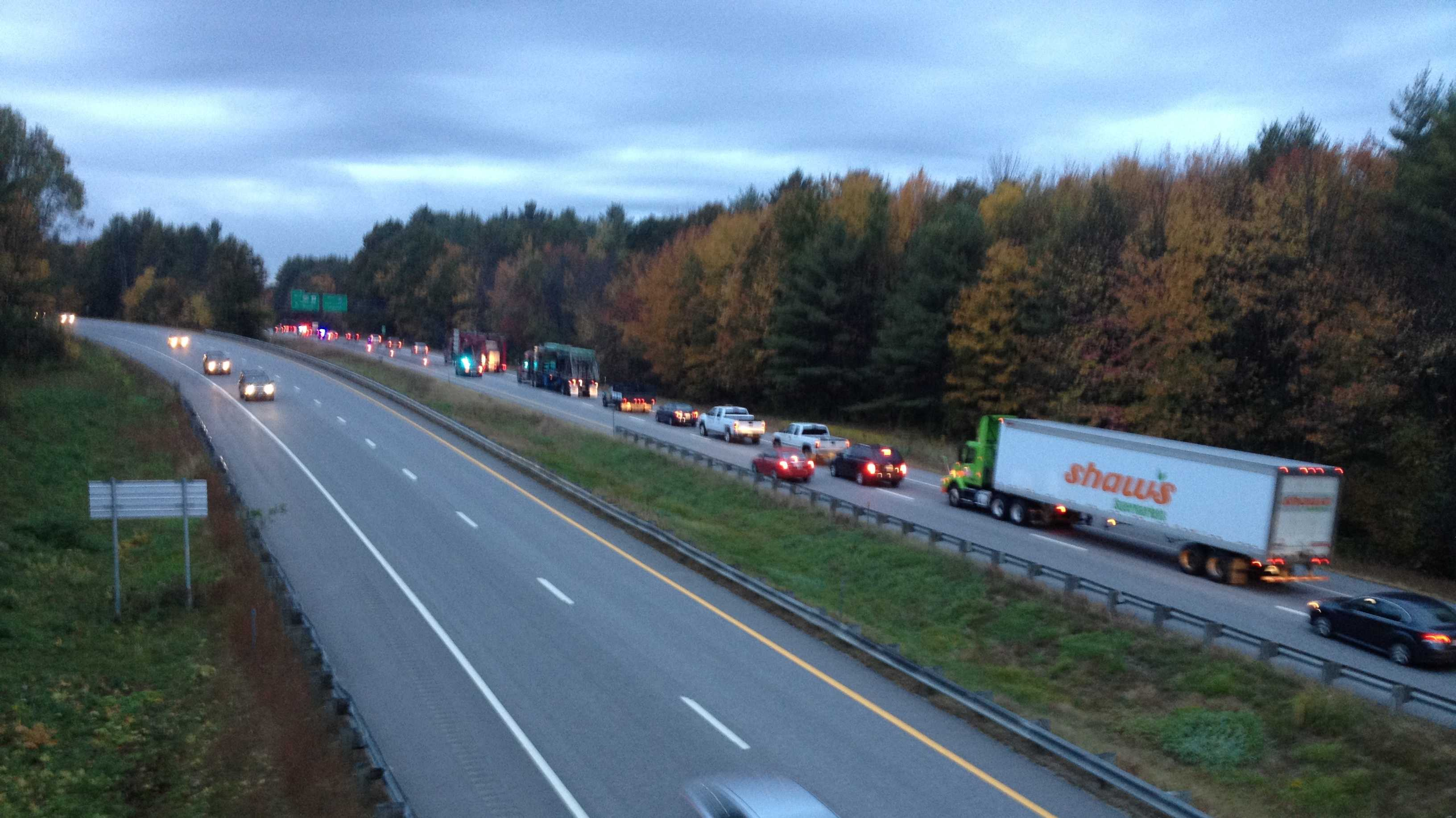 89 traffic backup in Hopkinton