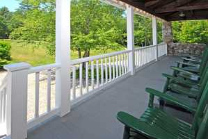"""According to the Realtor selling this property: """"Historic 'Stonehenge of Wolfeboro' was built in 1907 by Isaac F. Baker as a private retreat by the shores of Lake Winnipesaukee."""""""
