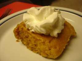 Gooey pumpkin butter cake.