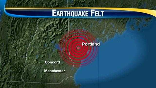 A 4.0-magnitude earthquake centered in southern Maine shook New England at around 7:12 p.m. on Tuesday night, causing some damage in New Hampshire.