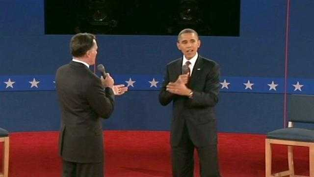 Mitt Romney and Barack Obama debate