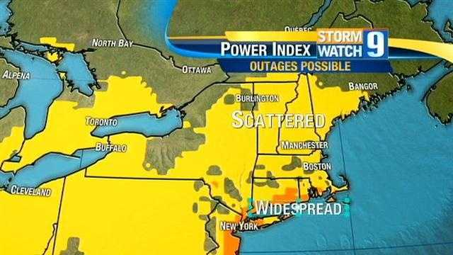 Map: Possible Power Outage Areas
