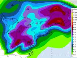 Here's a look at the 5-day rain potential. 2-3 inches could fall in New Hampshire (the areas shaded in purple).