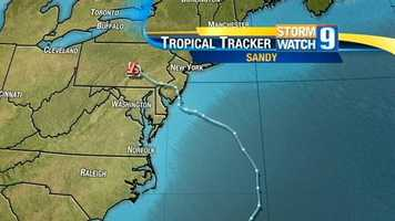 Sandy then took its turn inland, making landfall in southern New Jersey Monday evening.