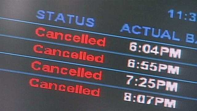 Airport disruptions after Sandy
