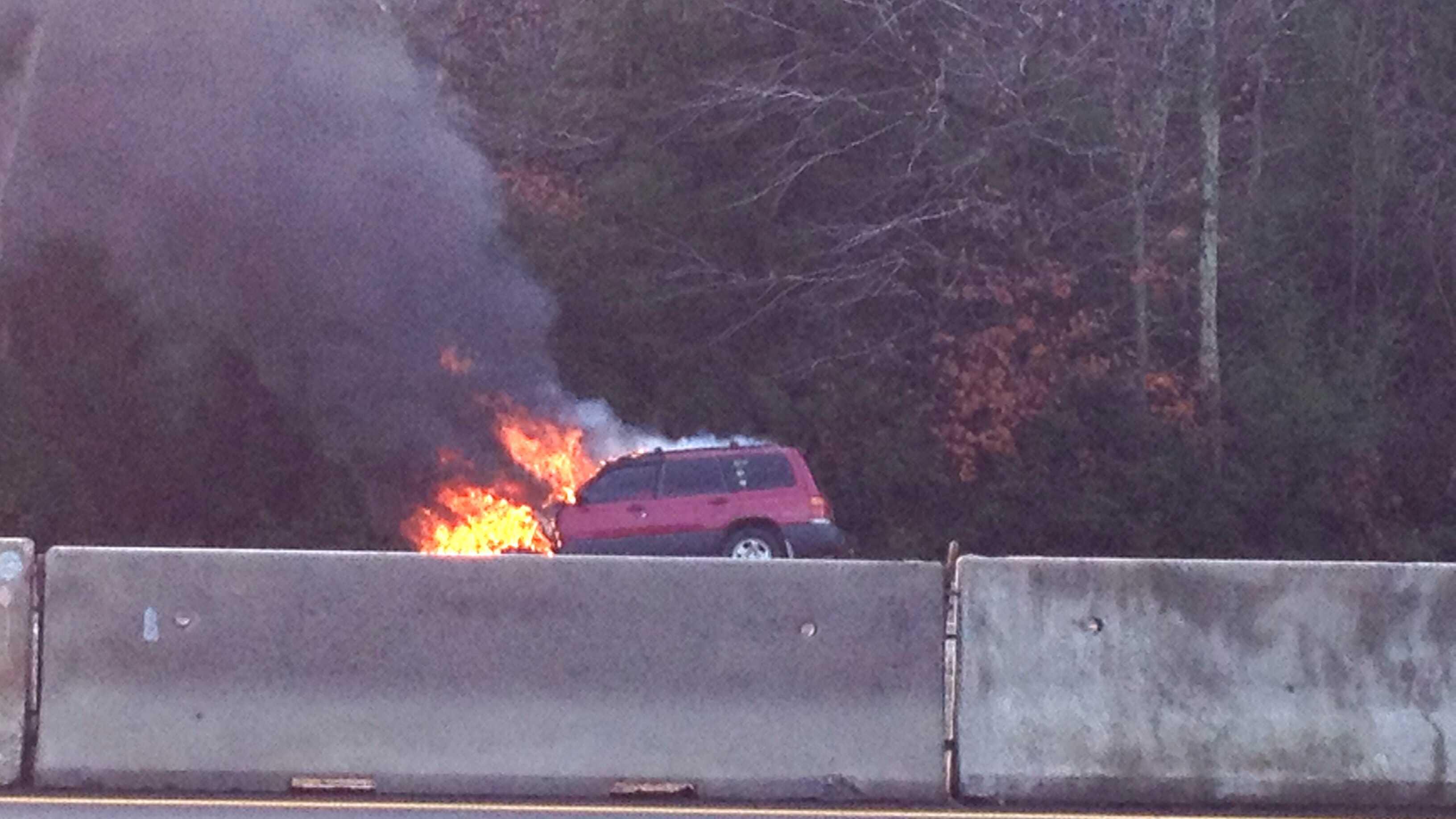 Route 101 car fire