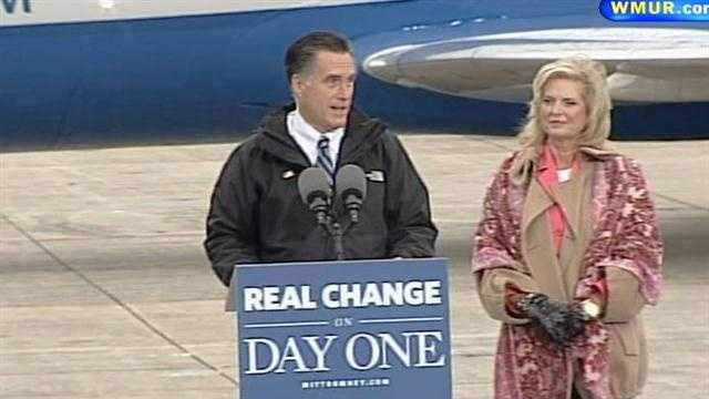 Uncut video: Mitt Romney campaigns in Portsmouth