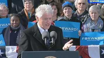 Former President Bill Clinton spoke first.
