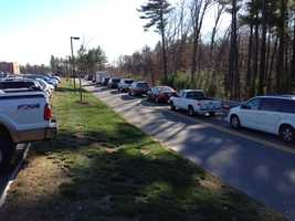 The line to vote in Hooksett.