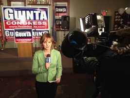 Heather Hamel at Frank Guinta's headquarters.