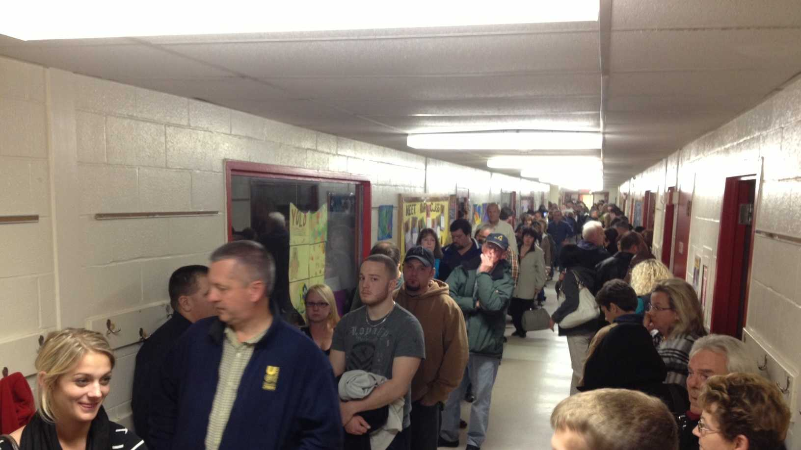 The line to vote in Salem.