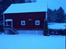 Snow fell across the state Wednesday night into Thursday morning. Here's a shot from Weare.