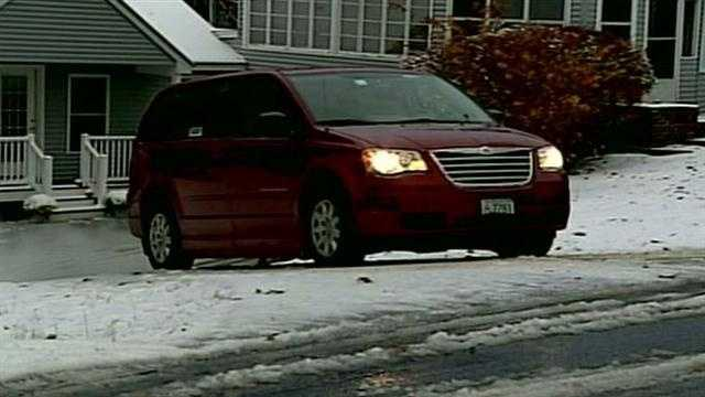 Snow makes for slippery commute