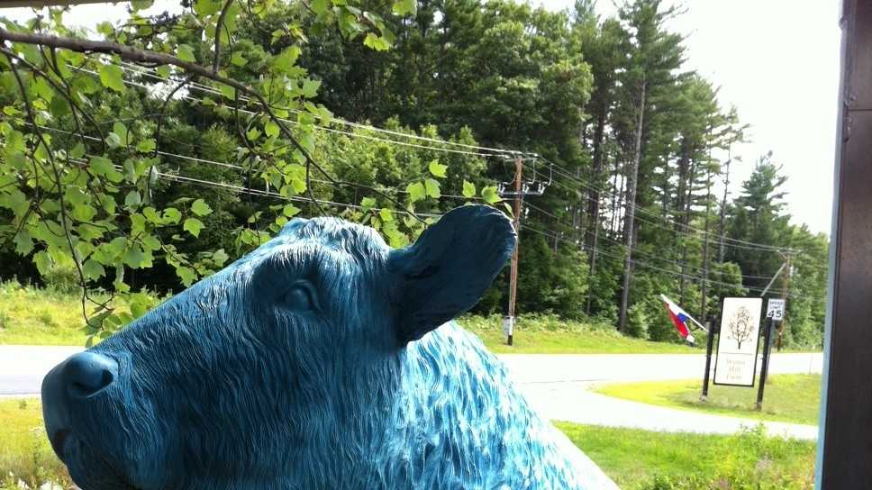 Police search for stolen bull statue