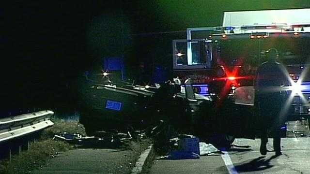 One person was seriously hurt in a crash in Londonderry Wednesday evening.