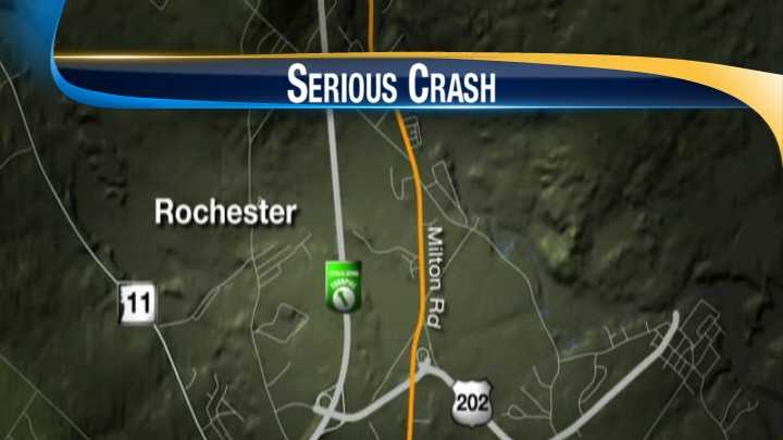 1 flown to hospital after crash in Rochester
