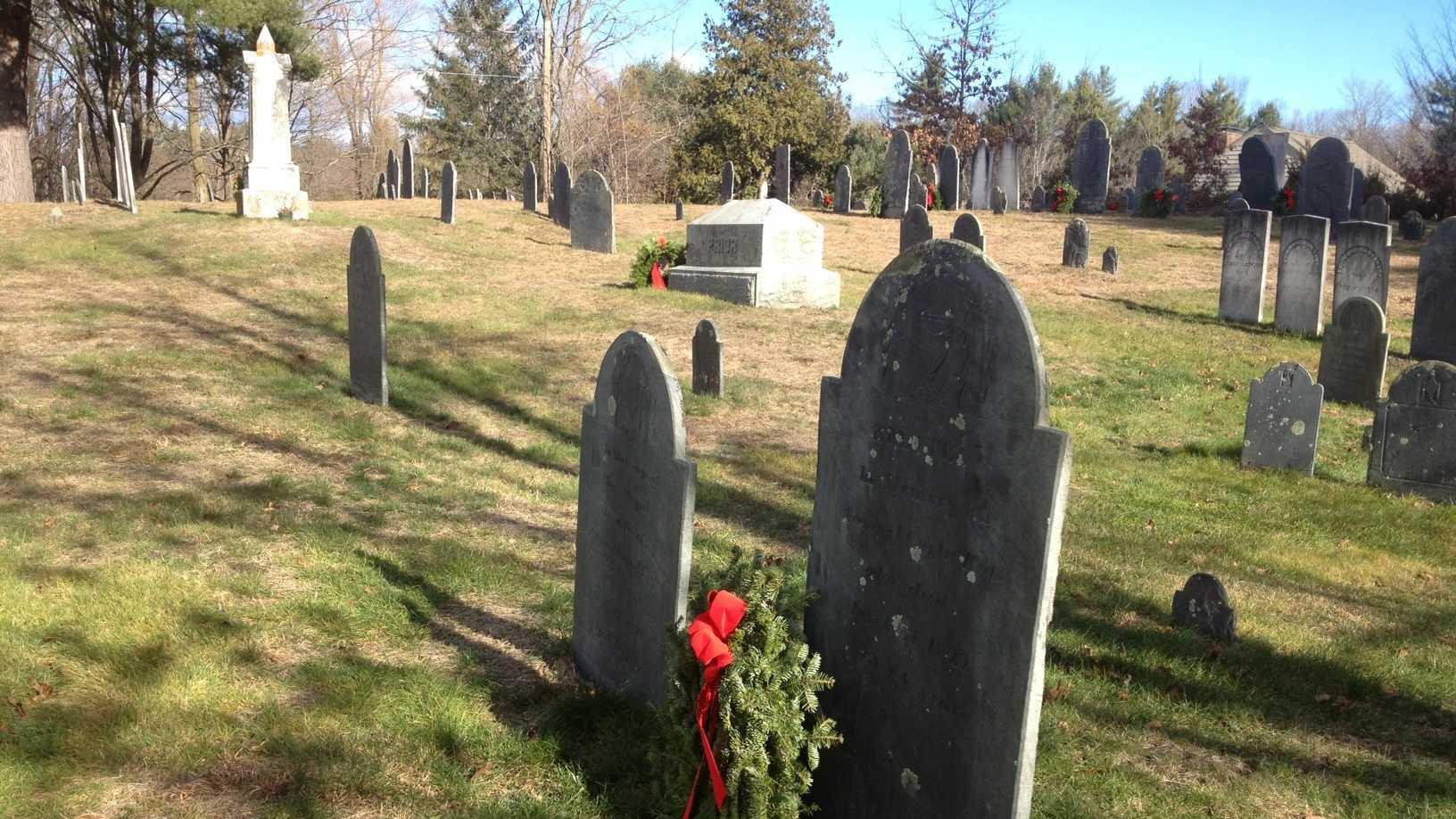 Wreaths laid on veterans' graves