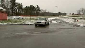 News 9 cameras caught a police vehicle carrying Linscott to Rockingham County Jail on Dec. 1, 2012.