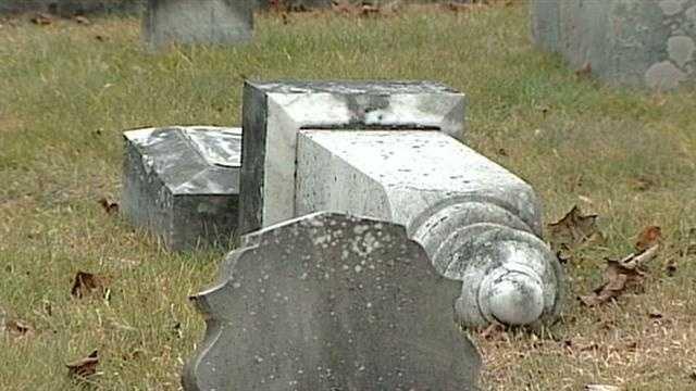 Deering cemetery vandalism