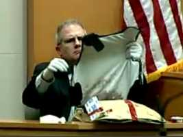 A sigificant amount of evidence was shown during the trial, including Doherty's bulletproof vest.