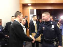 Doherty was seen shaking hands after the trial.