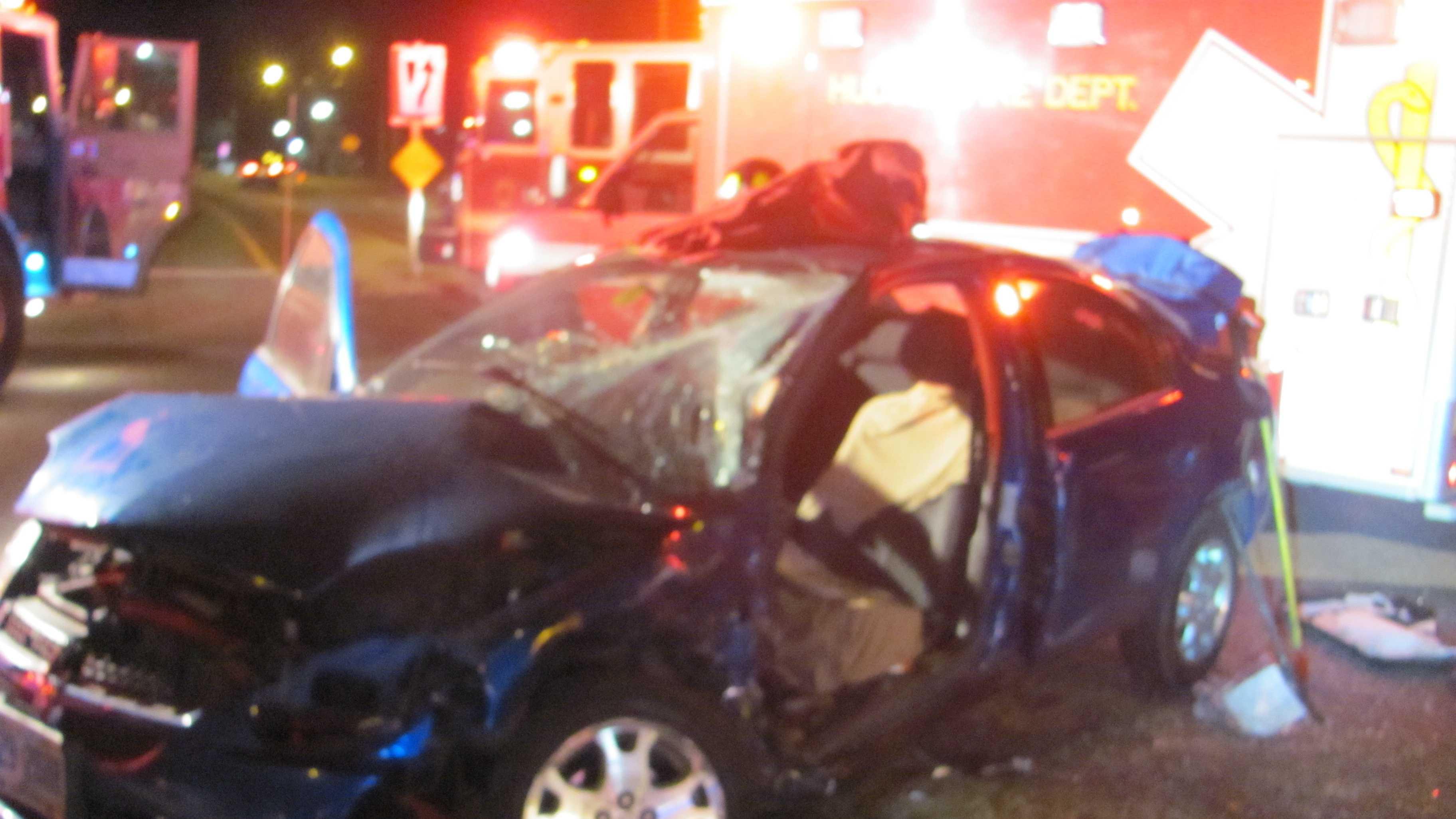 Hudson car crash