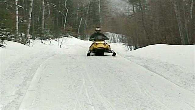 Snowmobile trails in good condition