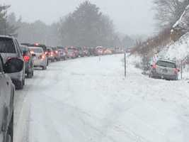 Traffic was backed up for miles after the crash, which involved multiple vehicles. Click here for the latest information.