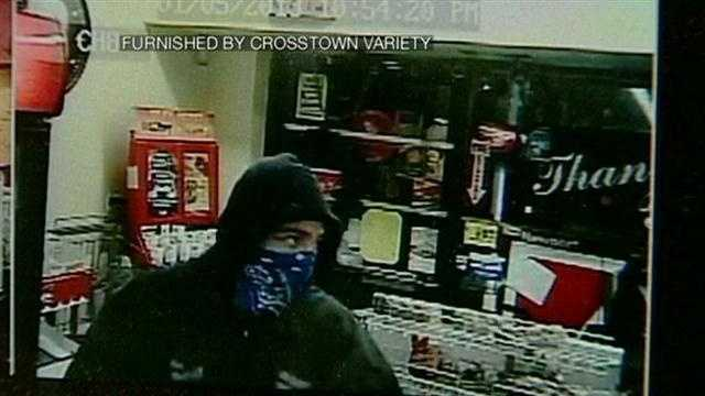 Surveillance video shows robberies