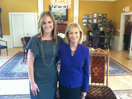 Former First Lady Dr. Susan Lynch spearheaded the Bridges House renovations. She formed a non-profit Friends of Bridges House to make repairs.