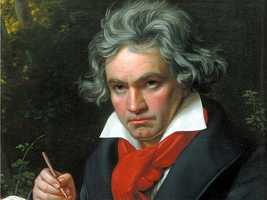 Some historic figures like Ludwig Van Beethoven (pictured) and Vincent van Gogh are considered to have likely had bipolar disorder, according to authors D. Jablow Hershman Julian Lieb, among others, but they were never diagnosed.