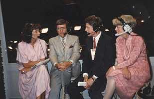Natalie Jacobson, Chet Curtis, Bill Clinton and Geraldine Ferraro at the 1988 Democratic convention in Atlanta.