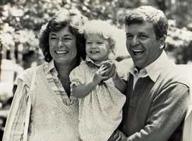 Natalie Jacobson, daughter Lindsay and Chet Curtis.
