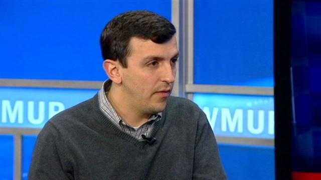 Andrew Hemingway, a candidate for the New Hampshire GOP Chair, sits down with WMUR Political Scoop's James Pindell.