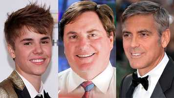 """Who would play Ray in a movie about himself? """"I was originally thinking George Clooney, but he has too much gray hair. Now, I'm thinking that the Biebs would be good,"""" Ray said."""