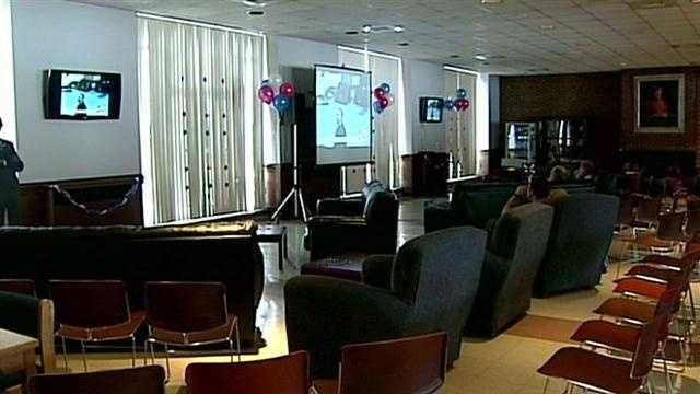 Students watch Obama's 2nd inauguration