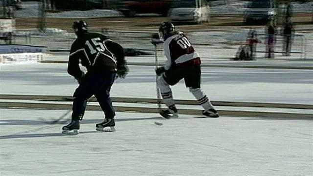 Pond hockey tournament under way