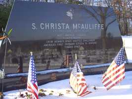 McAuliffe's remains were buried at the Blossom Hill cemetery in Concord, New Hampshire.