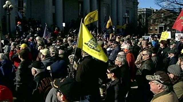 Rally held to support gun rights