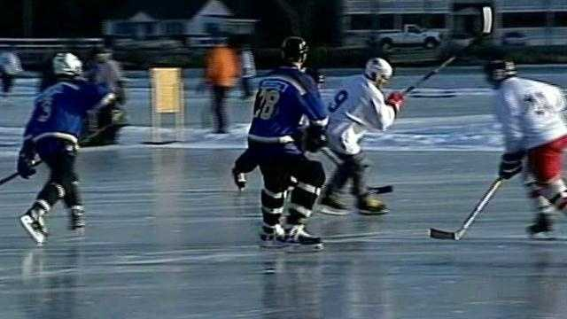 Pond hockey tournament brings excitement to Lakes Region