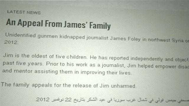 Family of missing US journalist posts ads in Syria