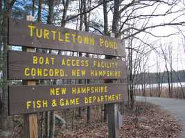 Click through for a look at Paula Tracy's ice fishing trip Tuesday at Turtletown Pond in Concord with Mark Beauchesne.