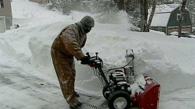 New Hampshire residents began digging out Saturday from the historic nor'easter that blew through the state.