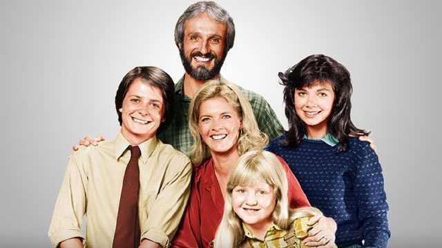 Family Ties cast photo, sized